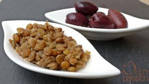 Linsen mit Oliven