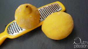 Zitrone gefroren