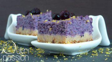 Heidelbeer-Cashew-Kuchen (vegan)