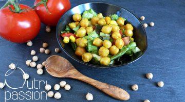 Kichererbsen mit Salat