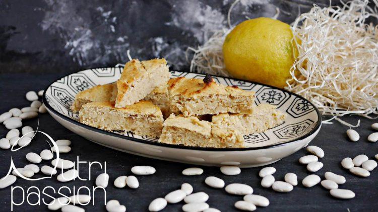 Zitronen-Protein-Schnitten